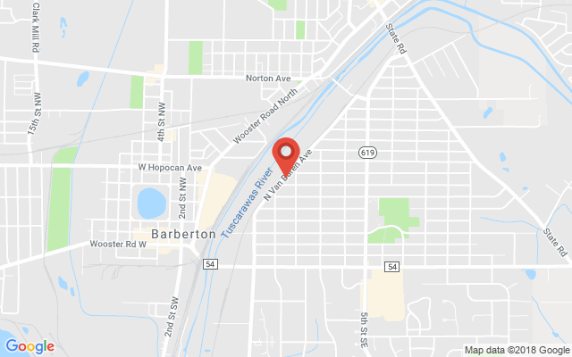 Google map image of  265 S Van Buren Ave, Barberton, OH 44203, USA